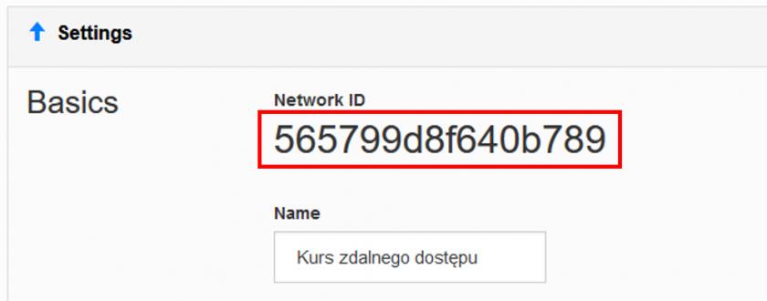 Network ID panelu ZeroTier, Źródło: Mission Critical by ASTOR