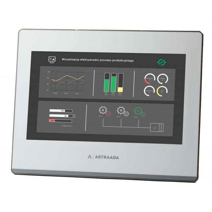 "Dotykowy panel operatorski Astraada HMI, matryca TFT 10,1"" (1024x600, 65k), RS232, RS422/485, 3x RS485, USB Client/Host, Ethernet, 30m gwarancji"