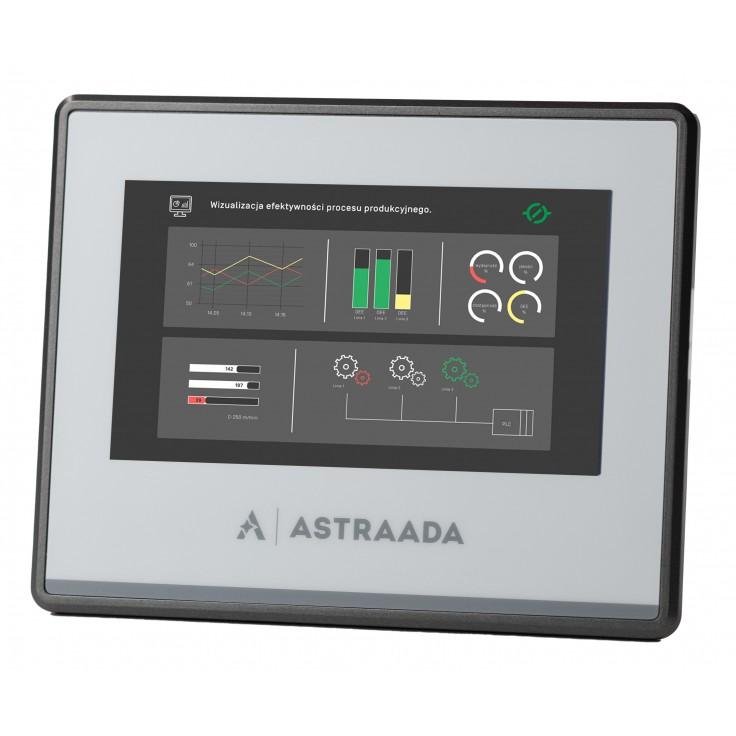 "Dotykowy panel operatorski Astraada HMI, matryca TFT 4,3"" (480x272, 65k), RS232, 3x RS485 USB Client/Host, Ethernet, 30m gwarancji"