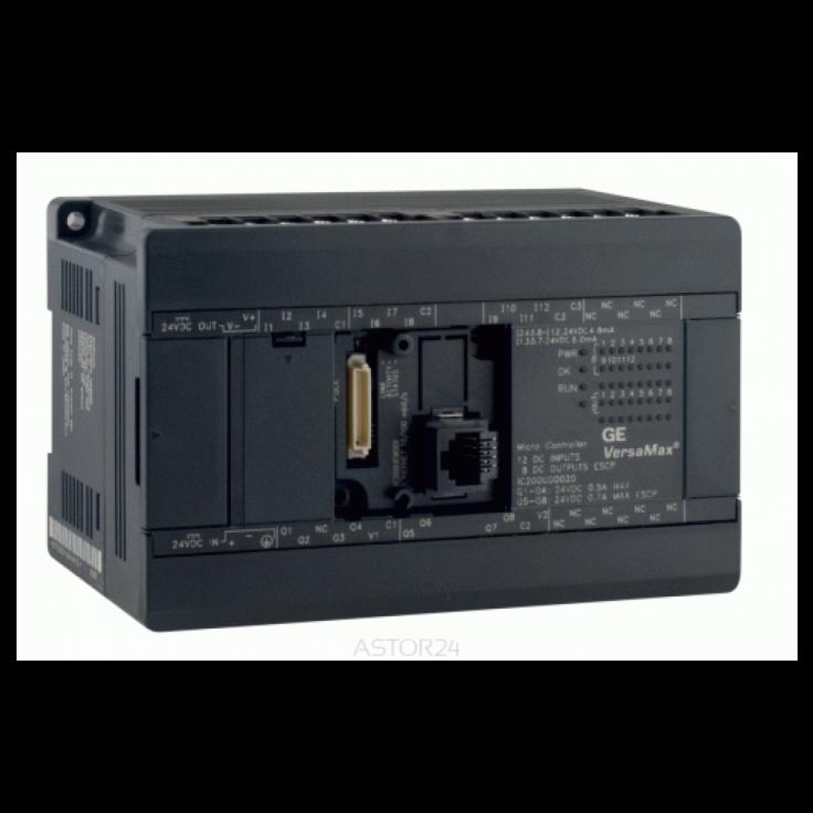 Sterownik PLC VersaMax Micro PLUS; RS232, drugi port opcjonalny; 40x DI (24 VDC), 24x DO (2A); zasilanie 230 VAC