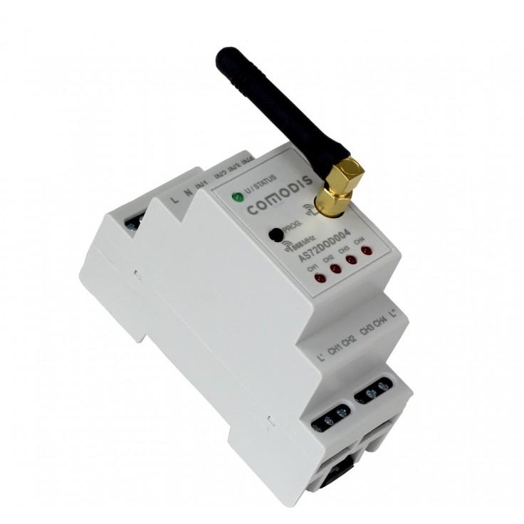 COMODIS - moduł 4 wyjść cyfrowych 230 VAC na szynę DIN