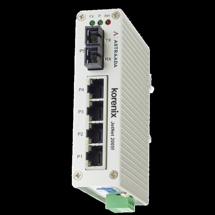 Switch niezarządzalny przemysłowy, Ethernet - 5-portowy (4 x 10/100 Base-TX + 1 złącze multimode - 100 Base-X)