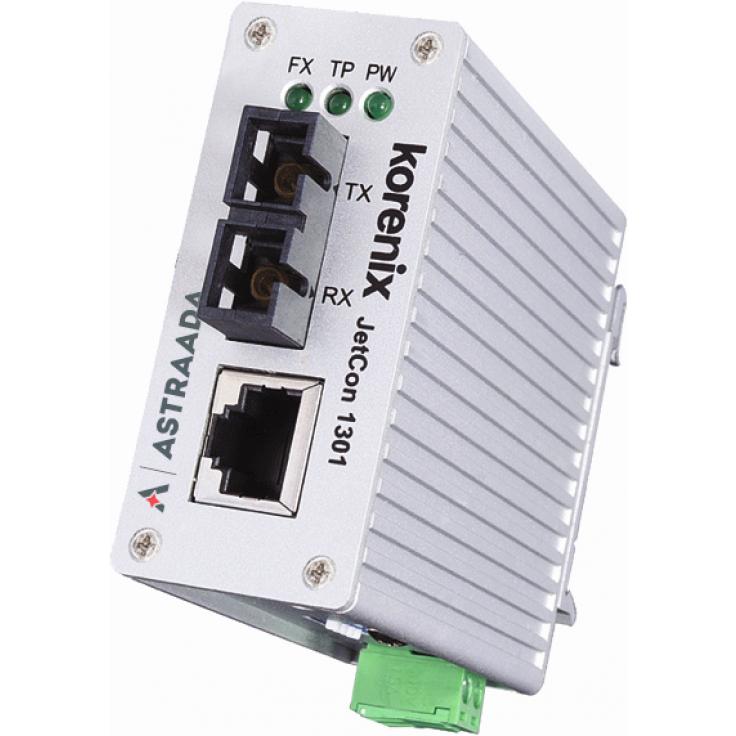 Konwerter światłowodowy Ethernet 1x RJ45, 1xSC, Multimode z podwyższoną rezystancją temperaturową