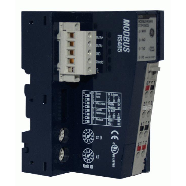 RSTi - Interfejs komunikacyjny Modbus RTU RS485 do budowania węzła oddalonych wejść-wyjść