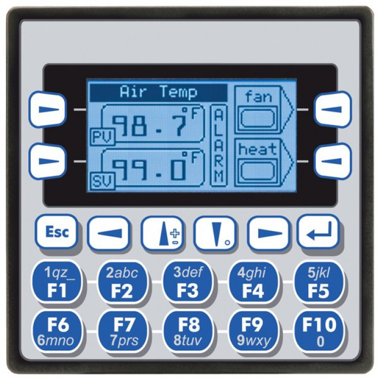 "Sterownik PLC z HMI XLe - 2.25"", CAN; 12 DI (24VDC), 12 DO (24VDC), 2 AI (0-10V, 0-20mA, TC, RTD), 2 AO (0-10V, 0-20mA); zasilanie 9-30VDC"