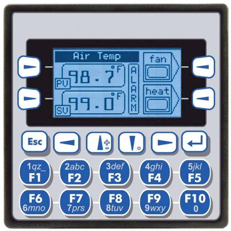 "Sterownik PLC z HMI XLe - 2.25"", 12 DI (12/24VDC), 12 DO (24VDC), 6 AI (0-10V, 0-20mA, TC, RTD), 4 AO (0-10V, 0-20mA); zasilanie 9-30VDC"