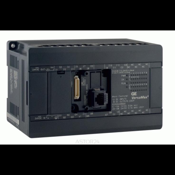 Sterownik PLC VersaMax Micro PLUS; RS232, drugi port opcjonalny; 40 DI (24 VDC), 24 DO (24 VDC z ESCP (logika ujemna); zasilanie 24 VDC