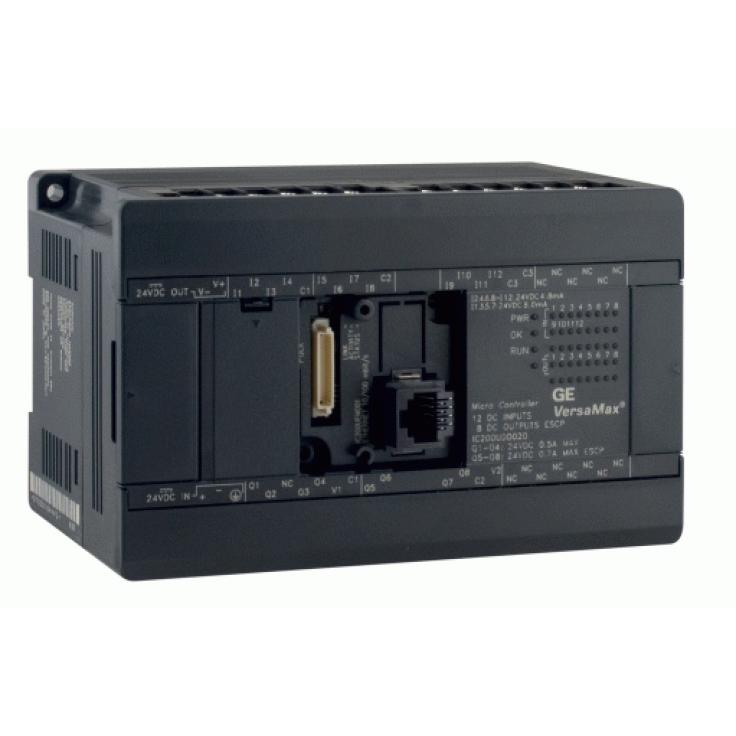 Sterownik PLC VersaMax Micro PLUS; RS232, drugi port opcjonalny; 24 DI (24 VDC), 16 DOR (przekaźnikowe 2A); zasilanie 24 VDC