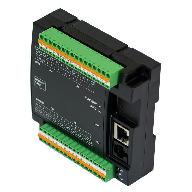 PROMOCJA - Sterownik PLC RCC972; RS232, Ethernet, CsCAN, MicroSD;  8x AI (0-20mA), 4x AO (0-20mA), 8x DI (24VDC), 4x DO (24VDC); zasilanie 9-30 VDC