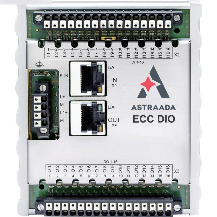 ECC DIO - Moduł wejść/wyjść cyfrowych sterownika kompaktowego: 16DI, 16DO