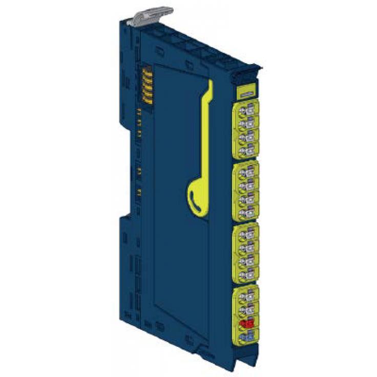 RSTi-EP - 2 wejścia dyskretne bezpieczne 24 VDC; programowalne opóźnienie