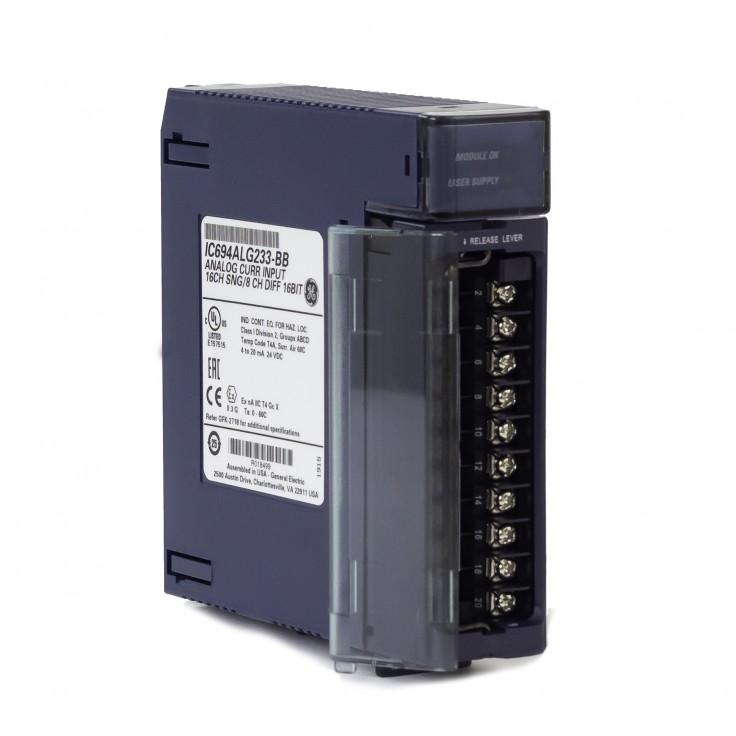 RX3i - 16 wejść analogowych prądowych (0-20/4-20 mA; 16 bitów); diagnostyka