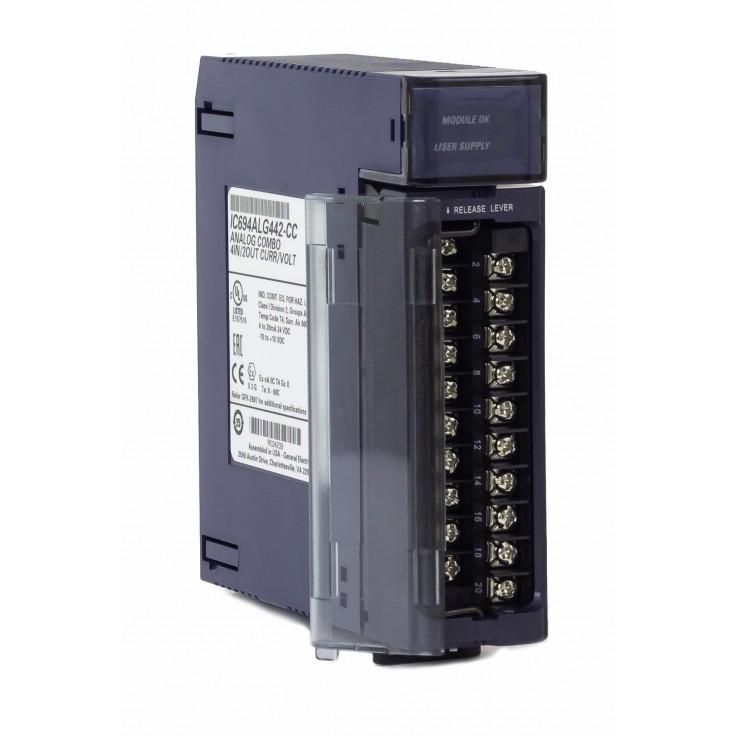 RX3i - 4 wejścia i 2 wyjścia analogowe prądowo-napięciowe (0-20/4-20 mA; 0-10/± 10 V; 15 bitów)