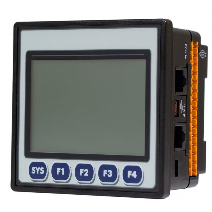 "Sterownik PLC z HMI EXLt - 3.5"", Ethernet; 12 DI (24V; 4 HSC); 12 DO (24V; 2 PWM); 2 AI (0-10V; 0-20mA; 4-20mA; RTD; THM); 2 AO (0-10V; 0-20mA; 4-20mA)"