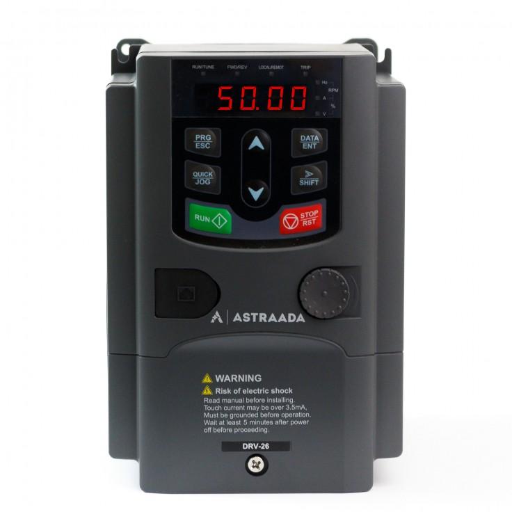 Falownik trójfazowy wektorowy 0.75 kW, filtr EMC, funkcje wentylatorowo-pompowe