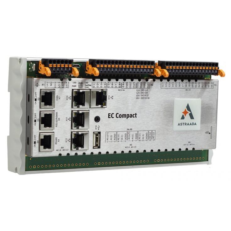 Astraada One ECC2200 - 16DI, 16DO, web server, RS232/485, CAN, Ethernet, EtherCAT, Ethernet, Modbus TCP/RTU