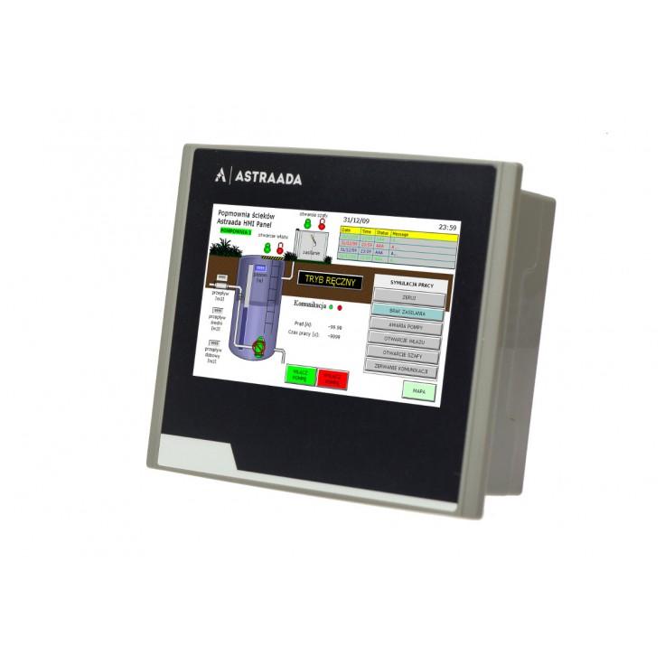 "Dotykowy panel operatorski Astraada HMI, matryca TFT 4,3"" (480x272, 65k), RS232/422/485, RS232, USB Client/Host"