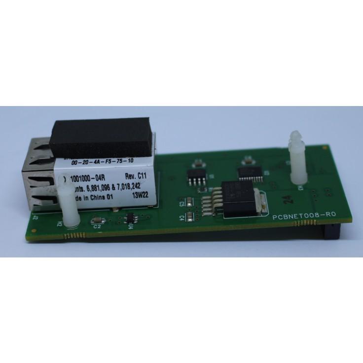 Wyprzedaż - Moduł komunikacyjny do sieci Ethernet dla sterowników XLE. Moduł pozwala na programowanie sterownika i pobieranie danych przy pomocy OPC Servera i komunikację w protokole Modbus TCP