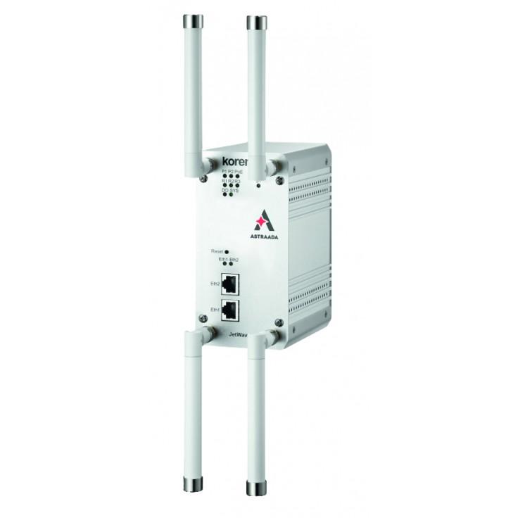 Router przemysłowy WiFi, 2.4 + 5 GHz; zasięg do 1 km, 2x10/100/1000 TX; szyfrowanie WPA2