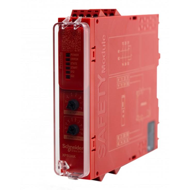 XPSUAK12AP - Moduł bezpieczeństwa Schneider Electric Preventa Universal XPSU, kat.4, 24 V AC/DC, 2 NO + 1 NC, zaciski śrubowe, 3 lata gwarancji