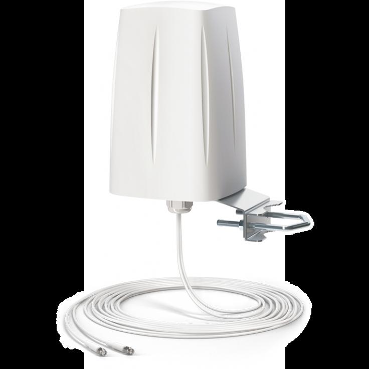 ANTENA 2G/3G/4G LTE Wielopasmowa zewnętrzna antena MIMO , dookólna z dwoma kablami 5mm i złączem SMA na pasma LTEGG
