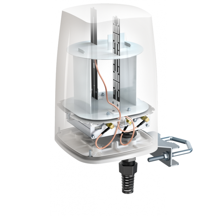 GATX10 - przemysłowy, zaawansowany gateway z obsługą BLE zintegrowany z anteną. Komunikacja Bluetooth/Wi-Fi/LAN/Modbus TCP/MQTT