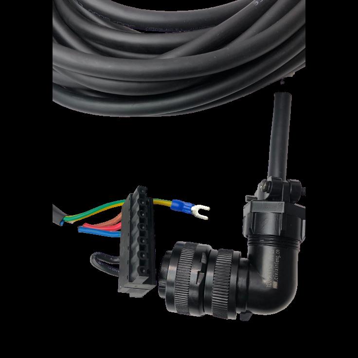 Kabel zasilający 20m do silników - 1kW, 230V; 2…3kW, 400V z enkoderem absolutnym, - 1…3.8kW, 400V z enkoderm inkrem
