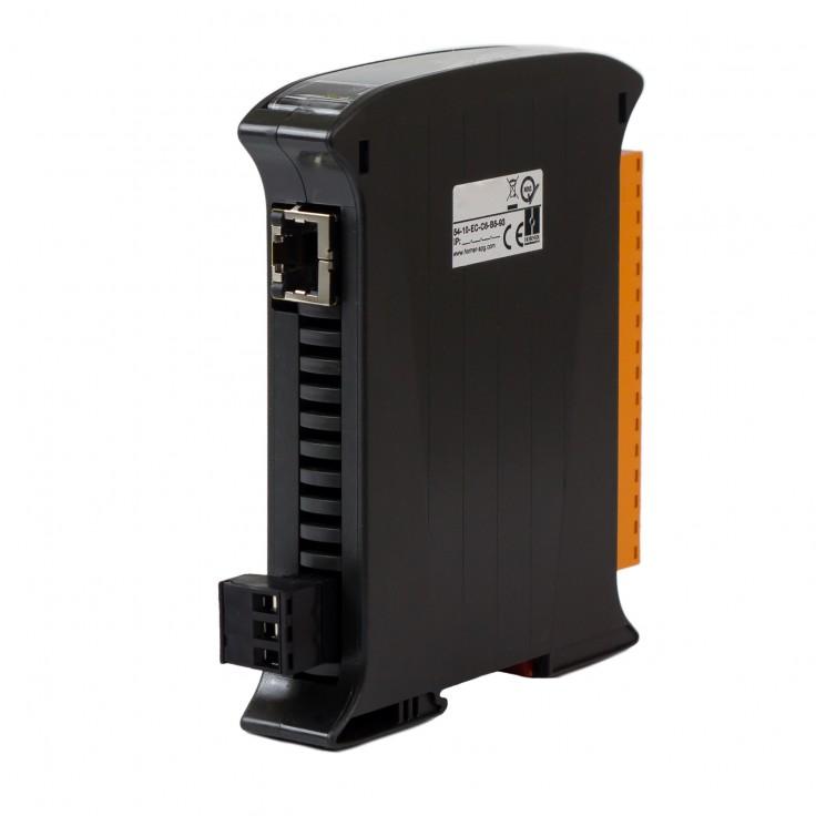SmartMod PLUS I/O; 8 wejść dyskretnych 24 VDC ; 4 wyjścia przekaźnikowe 2A; Modbus TCP
