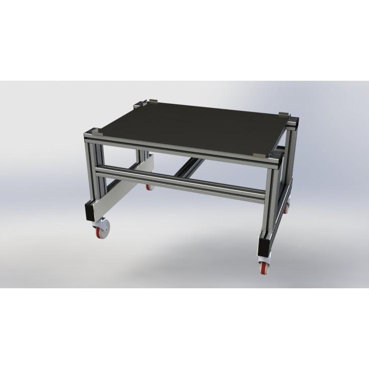Wózek do modułu Shelf z systemu profili aluminiowych