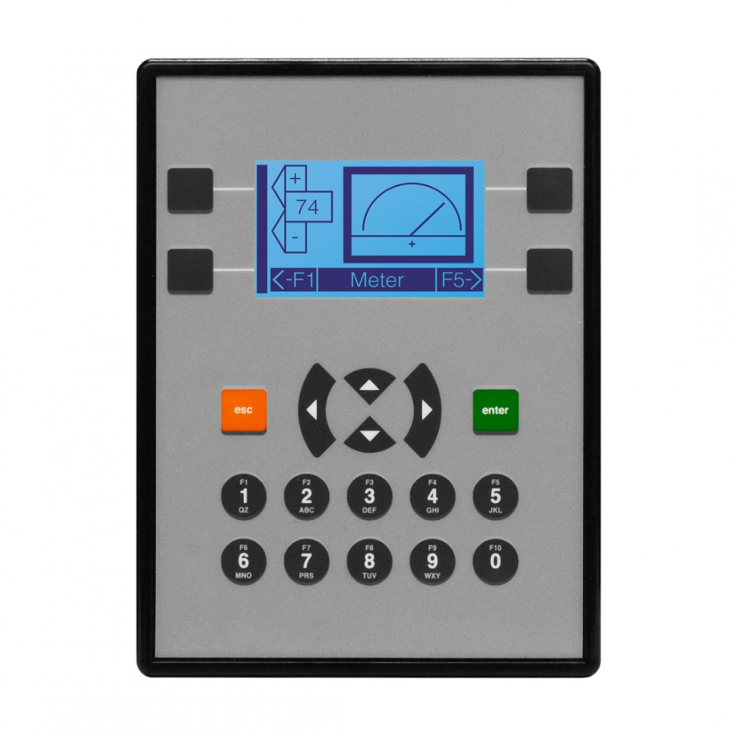 "Sterownik PLC z HMI X2 - 2.2"", 12 DI (24V, 4 HSC 10 KHz), 2 DO (24V, 2 PWM 65KHz), 6 DOR (3A), 4 AI (4-20mA, 12 bit), 2 AO (4-20mA, 12 bit)"