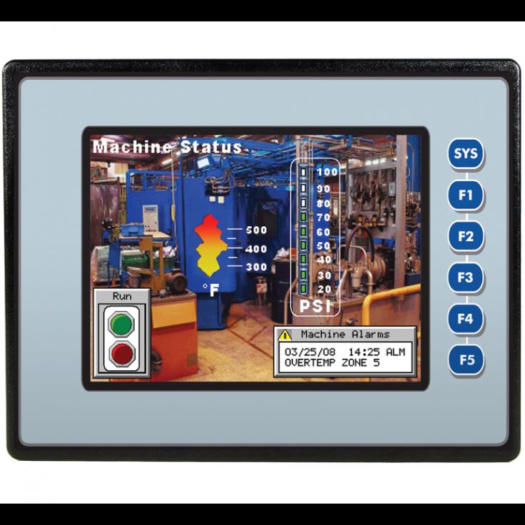"Sterownik PLC z HMI EXL6 - 5.7"", 24 DI (24V, 4 HSC), 16 DO (24V, 2 PWM), 2 AI (0-10V, 0-20mA, 4-20mA)"