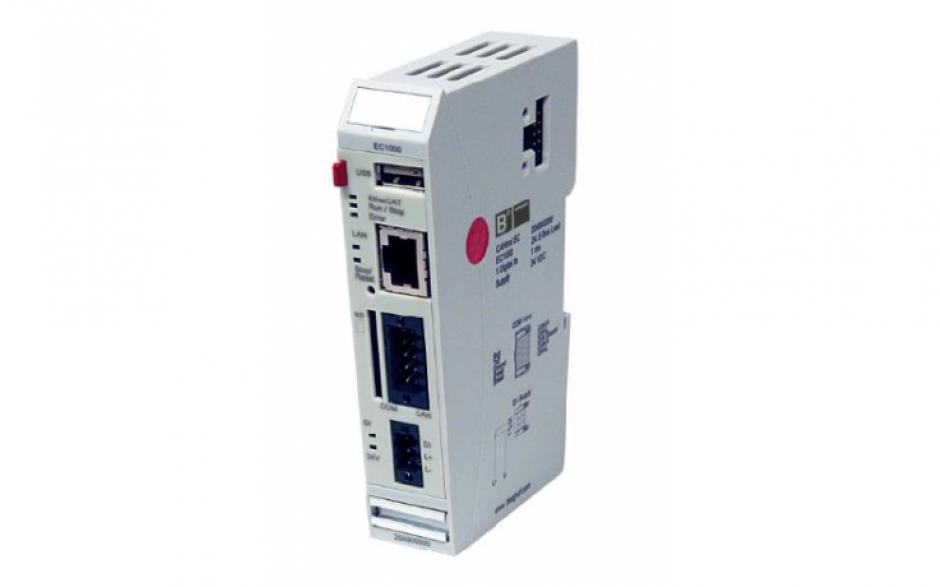 Wyprzedaż - Astraada ONE - Jednostka centralna EC1000, wsparcie Codesys V3, 400 MHz, 64MB Flash, 128MB RAM, 1 x RS232, 1 x USB, 1 x CAN, 1 x Ethernet, 1 x DO. Zawiera terminale: 204802100 i 204801900