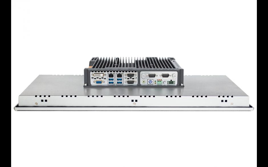 """Przemysłowy komputer panelowy 21.5"""", pojemnościowy 1920*1080, Intel i5-7200U, 8GB RAM, 2x RS232/485,  4x USB, 2x Intel Gigalan, DVI-D+VGA, SATA SSD 256 GB, WIN10-PRO/64/ENG, zasilanie 12VDC z zasilaczem 2"""