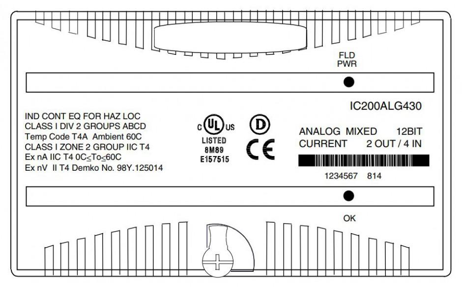 VersaMax - Moduł 4 wejść analogowych prądowych, 2 wyjść analogowych prądowych; rozdzielczość 12 bitów 2
