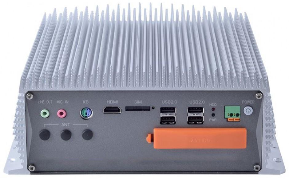 Komputer przemysłowy typu BOX, Intel i5-7400, 16GB RAM, SATA SSD 512 GB, WIN10-PRO/64/ENG, 1x PCIe, 4x RS232, 2x RS232/485, 4x USB 2.0, 4x USB 3.0, 2x LAN 3