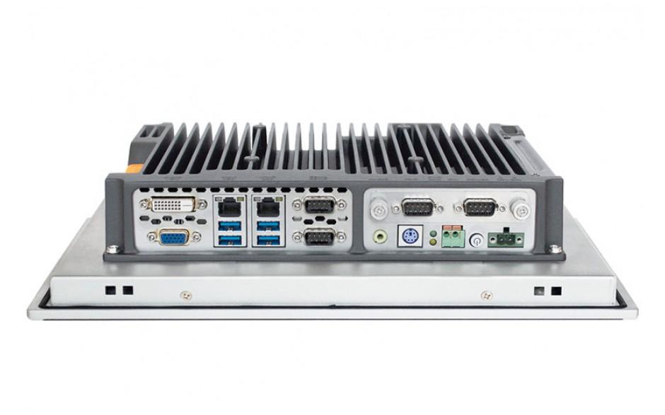 """Przemysłowy komputer panelowy 12"""", dotykowy pojemnościowy, 1024*768, Intel i5-7200U, 8GB RAM, 2x RS232/485, 4x USB 3.0, 2x Intel Gigalan, DVI-D + VGA, SATA SSD 256 GB, WIN10-PRO/64/ENG, zasilanie 12VDC z zasilaczem 2"""