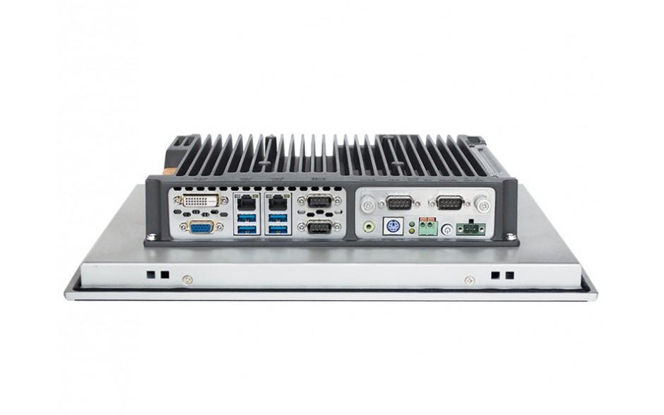 """Przemysłowy komputer panelowy 15"""", dotykowy pojemnościowy, 1024*768, Intel i5-7200U, 8GB RAM, SATA SSD 256 GB, WIN10-PRO/64/ENG, 2x RS232/485, 4x USB 3.0, 2x Intel Gigalan, DVI-D+VGA, zasilanie 12-24VDC z zasilaczem 2"""