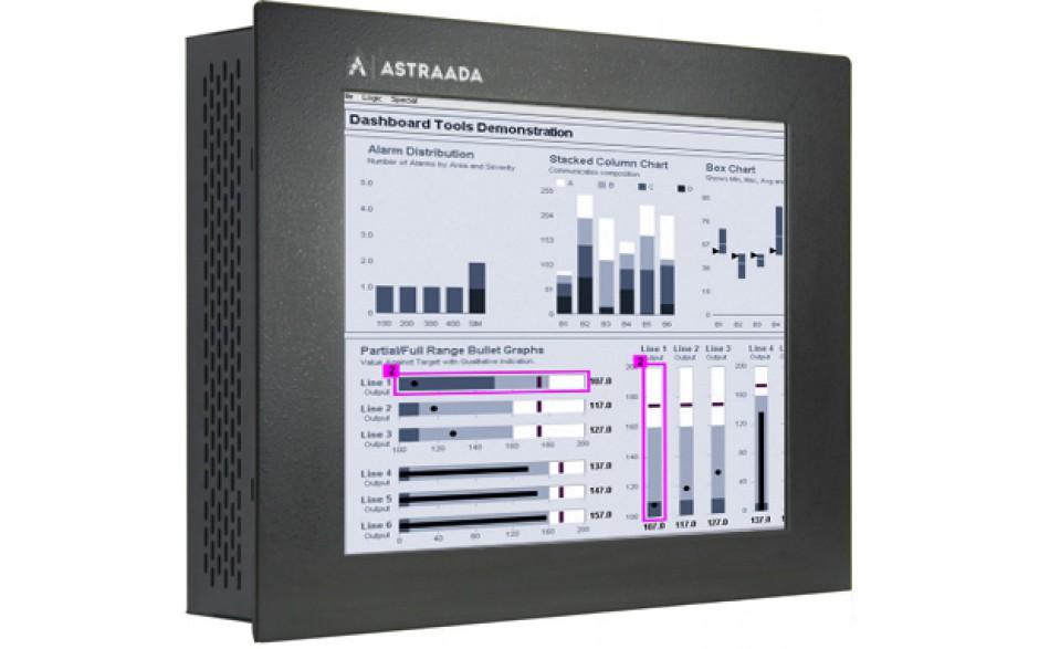 """Dotykowy komputer przemysłowy Astraada PC, 17"""" Intel i5-3230M (2.6 - 3.2 GHz), 4GB RAM, HDD 320 GB, ekran rezystancyjny, Win 7 - PROMOCJA"""