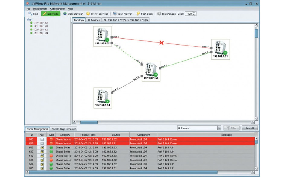 Korenix NMS (JetView Pro), oprogramowanie do switchy zarządzalnych (do monitoringu i diagnostyki sieci Ethernet), licencja na 256 adresów IP