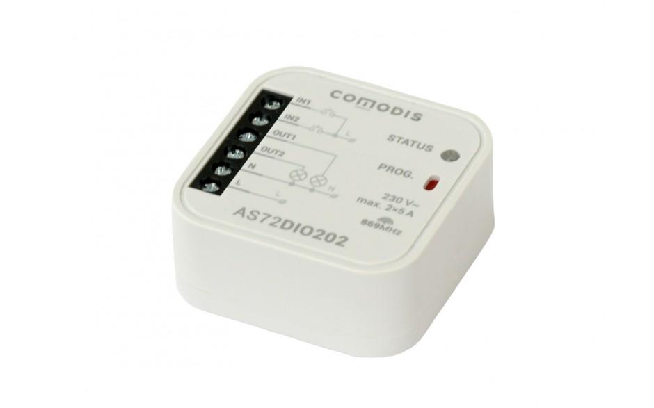 COMODIS - Bezprzewodowe wyjście cyfrowe przekaźnikowe dopuszkowe 2-kanałowe