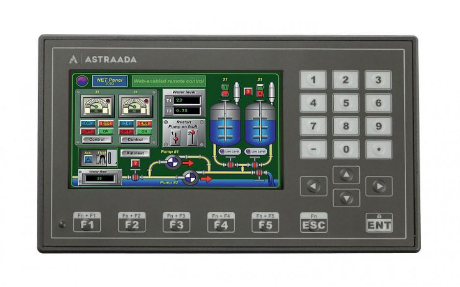 """Dotykowy panel operatorski Astraada HMI, matryca TFT 4,3"""" (480x272, 65k) z klawiaturą numeryczną, RS232/422/485, RS232, USB Client/Host 5"""