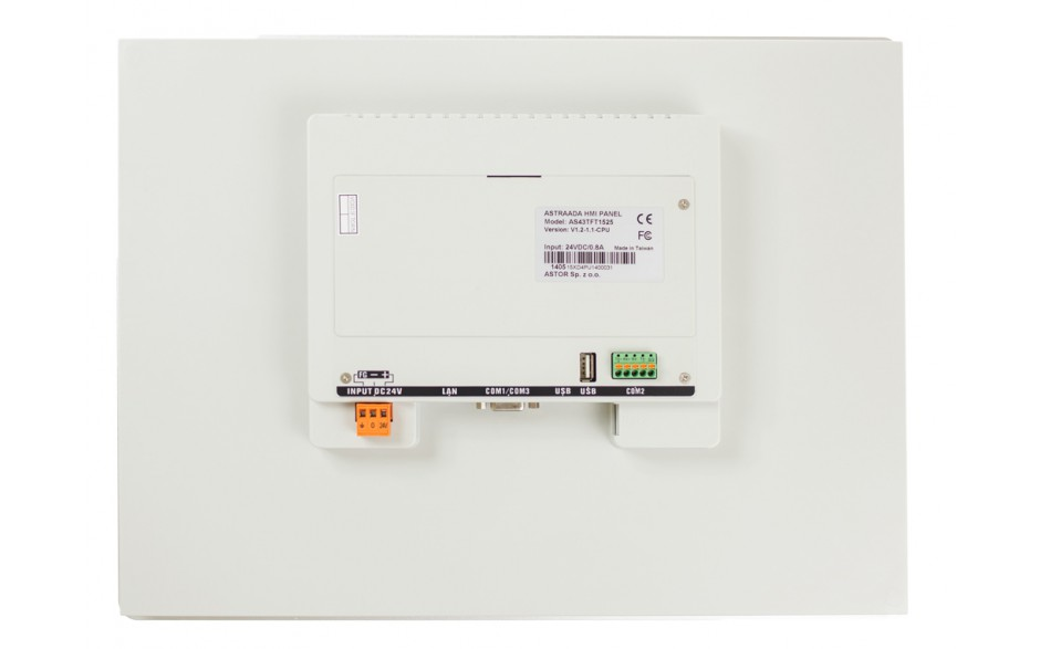 "Dotykowy panel operatorski Astraada HMI, matryca TFT 15"" (1024x768, 65k), RS232/422/485, RS422/485, RS232, USB Client/Host, Ethernet, MicroSD 3"