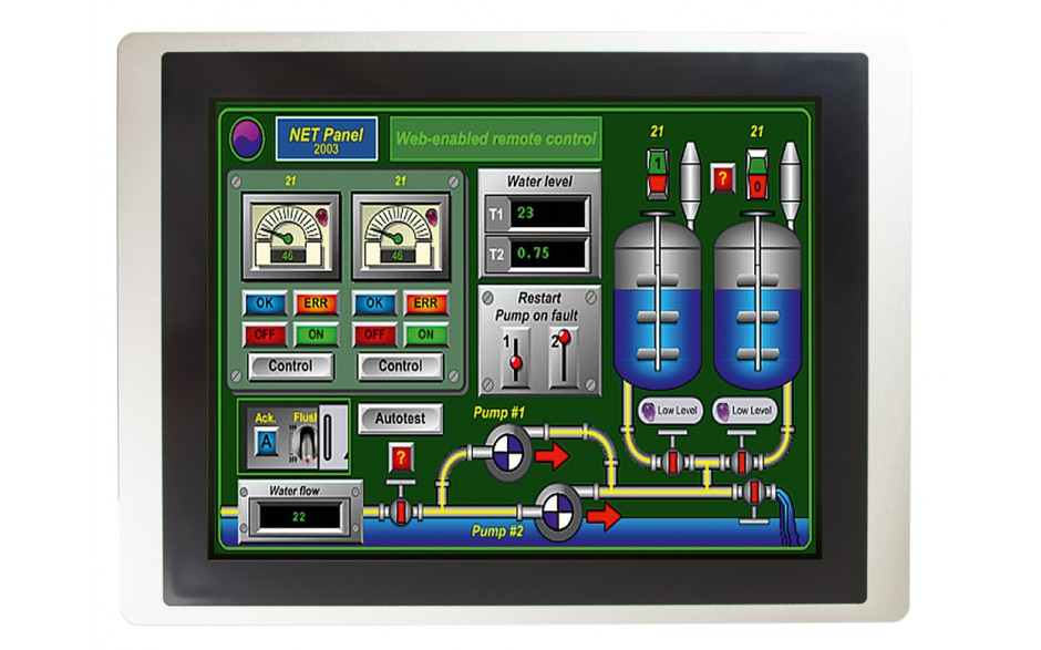 "Dotykowy panel operatorski Astraada HMI, matryca TFT 15"" (1024x768, 65k), RS232/422/485, RS422/485, RS232, USB Client/Host, Ethernet, MicroSD"