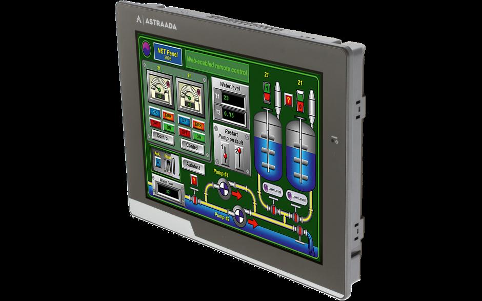 "Dotykowy panel operatorski Astraada HMI, matryca TFT 10"" (1024x600, 65k), RS232/422/485, RS232, USB Client/Host, Ethernet 4"