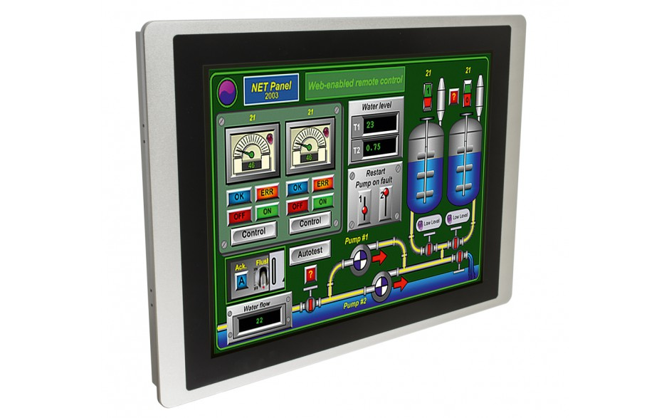 "Dotykowy panel operatorski Astraada HMI, matryca TFT 15"" (1024x768, 65k), RS232/422/485, RS422/485, RS232, USB Client/Host, Ethernet, MicroSD 5"