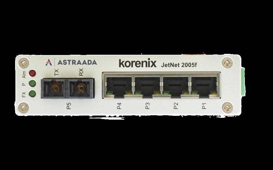 Switch niezarządzalny przemysłowy, Ethernet - 5-portowy (4 x 10/100 Base-TX + 1 złącze multimode - 100 Base-X) 2