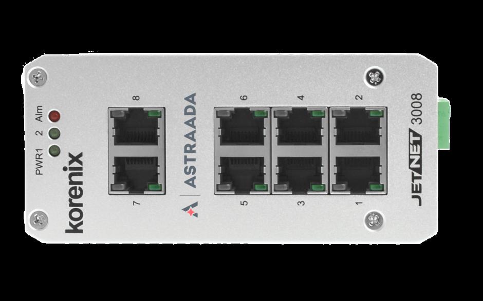 Switch niezarządzalny przemysłowy, Ethernet - 8-portowy (10/100 Base-TX) 2