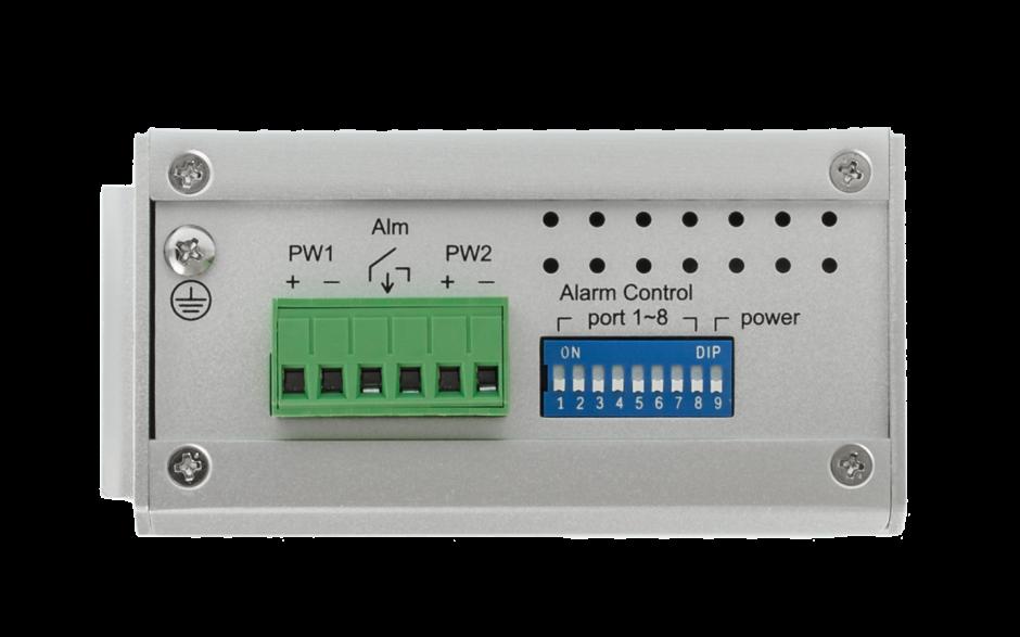 Switch niezarządzalny przemysłowy, Ethernet - 8-portowy (10/100 Base-TX) 3