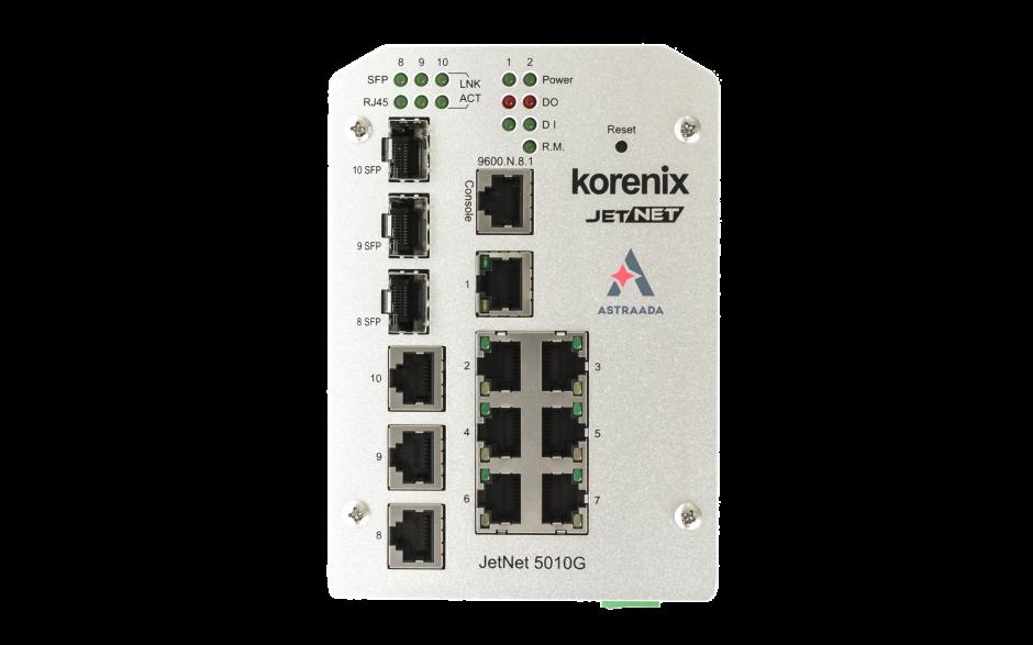 Switch zarządzalny przemysłowy, Ethernet - 10-portowy (7 x 10/100 Base-TX + 3 x RJ45/SFP  - 100/1000 Base-X), RING, Modbus TCP 3