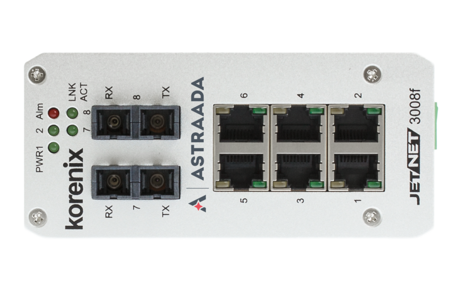 Switch niezarządzalny przemysłowy, Ethernet - 8-portowy (6 x 10/100 Base-TX + 2 złącza SC singlemode (100 Base-X) 4